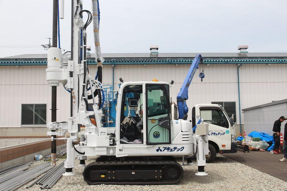 長野営業所に新しいYMB社製の地盤改良機(GI50C)が納車されました。