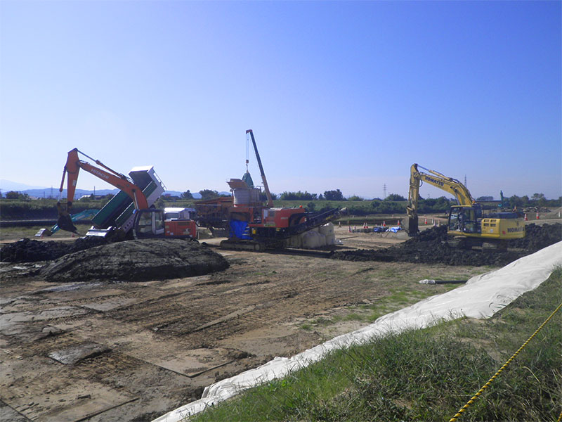 大島地区河道掘削その6工事