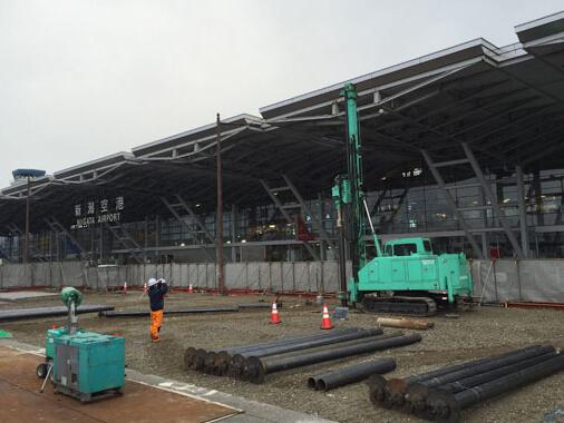 新潟空港駐車場工事